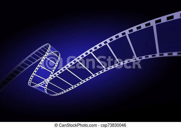 nero, film, 3d, striscia - csp73830046