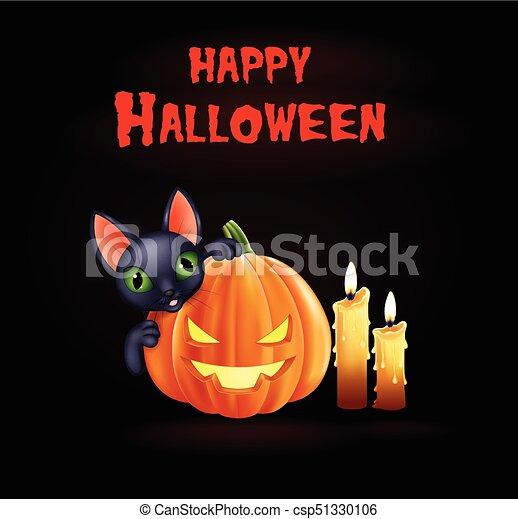 Zucca Halloween Gatto.Nero Halloween Zucca Fondo Gatto