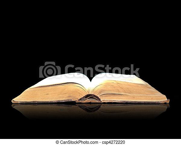 nero, libro, magia, aperto - csp4272220