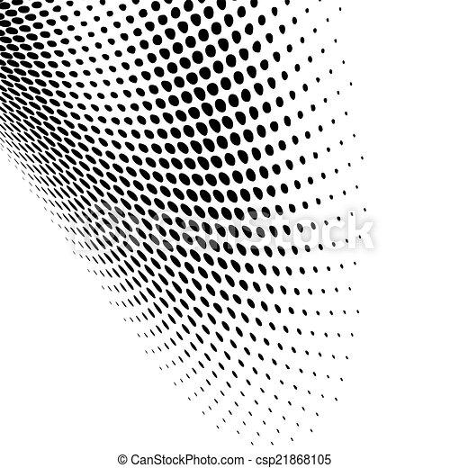 nero, moderno, disegno, punteggiato - csp21868105