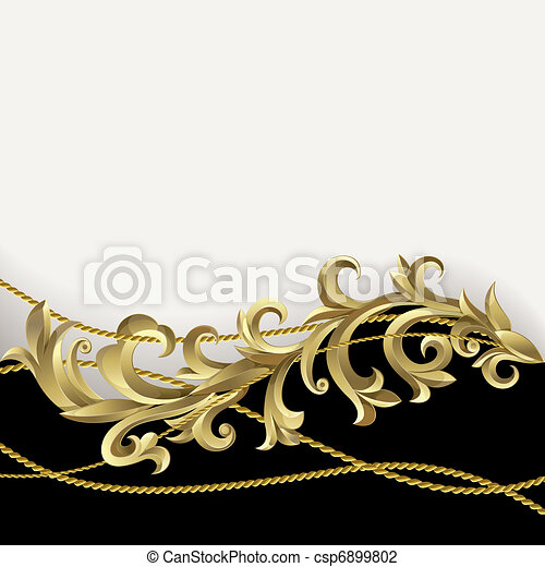 nero, oro, fondo - csp6899802