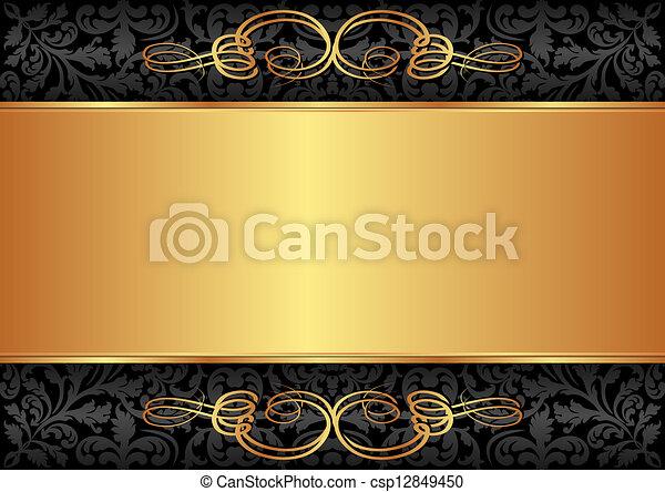 nero, oro, fondo - csp12849450