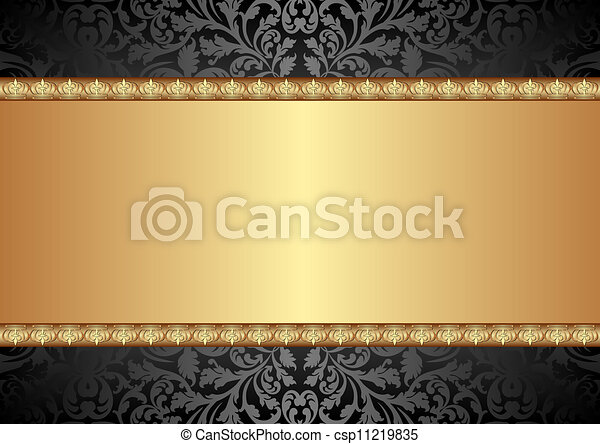 nero, oro, fondo - csp11219835