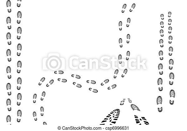 nero, piedi, tracce - csp6996631