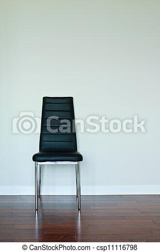 nero, sedia, cuoio - csp11116798