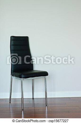 nero, sedia, cuoio - csp15677227