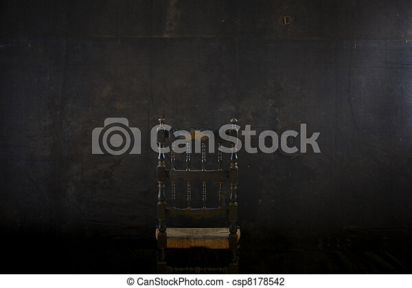 nero, sedia, parete - csp8178542