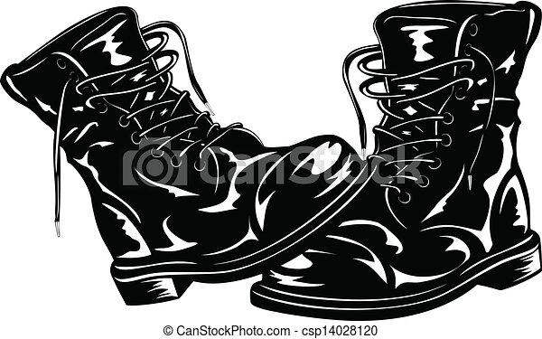 nero, stivali, esercito - csp14028120