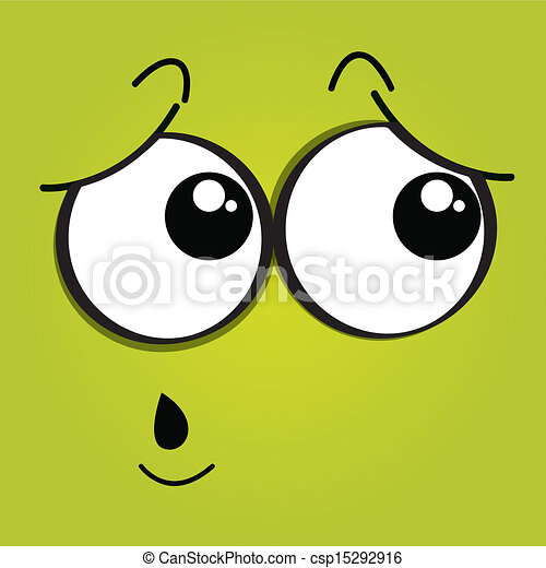 Vector clip art of nervous face expression on green background nervous face expression on green background ccuart Choice Image
