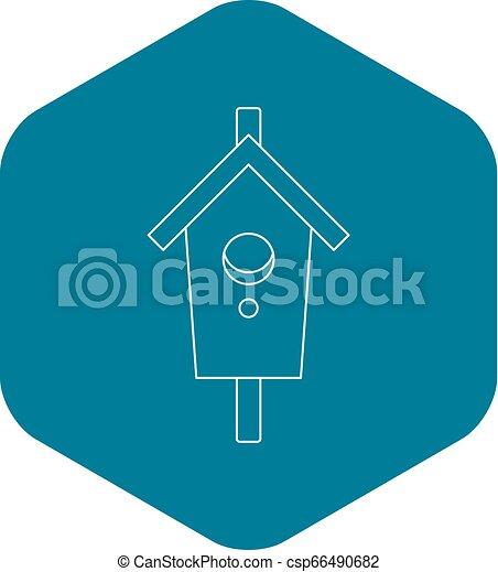 Nesting, box icon, outline style - csp66490682