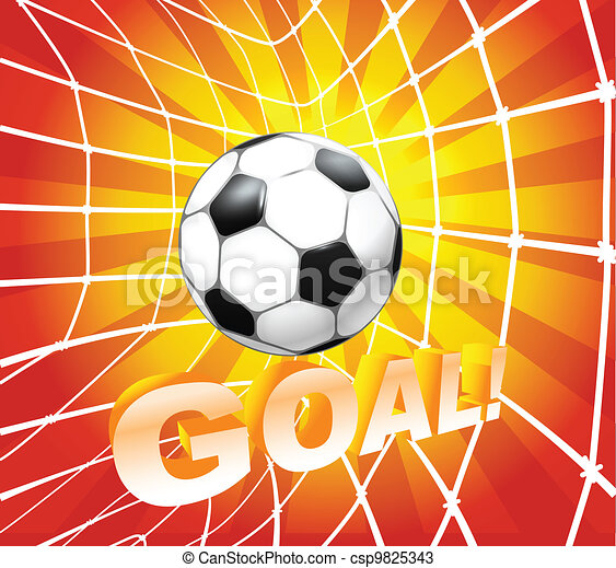 net., 공, (soccer), 목표, 축구 - csp9825343