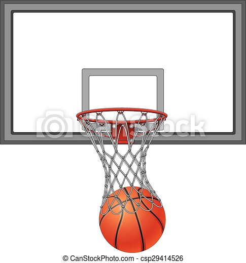 net, basketbal, backboard - csp29414526