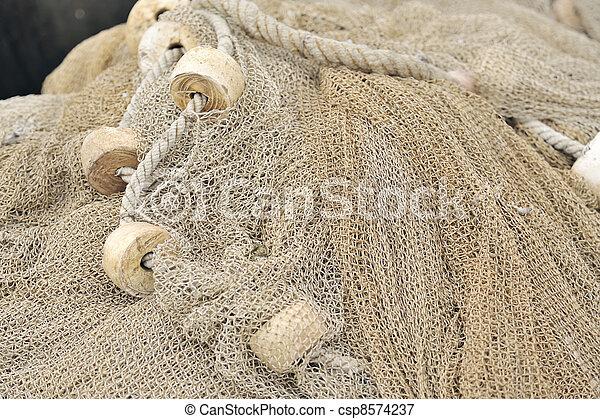 net, closeup, fiske - csp8574237