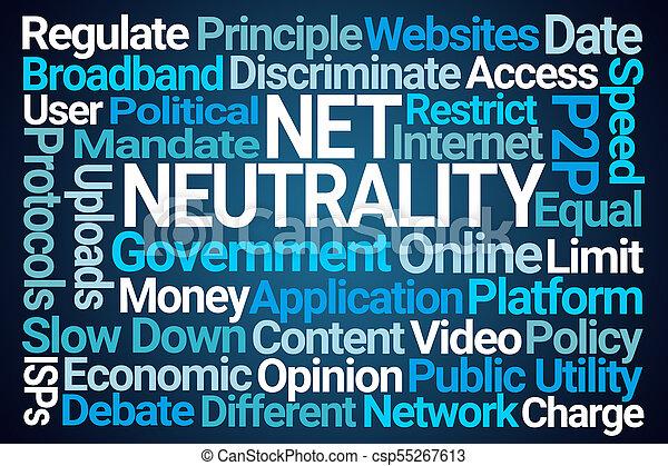 Net Neutrality Word Cloud - csp55267613