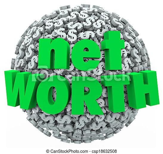 Net Worth Money Ball Sphere Total Financial Value Wealth - csp18632508