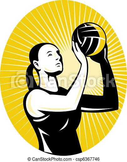 netball player goal shooter - csp6367746