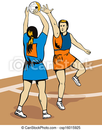 Netball Player Shooting - csp16015925