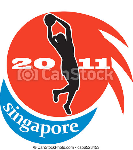 netball player Singapore 2011 - csp6528453