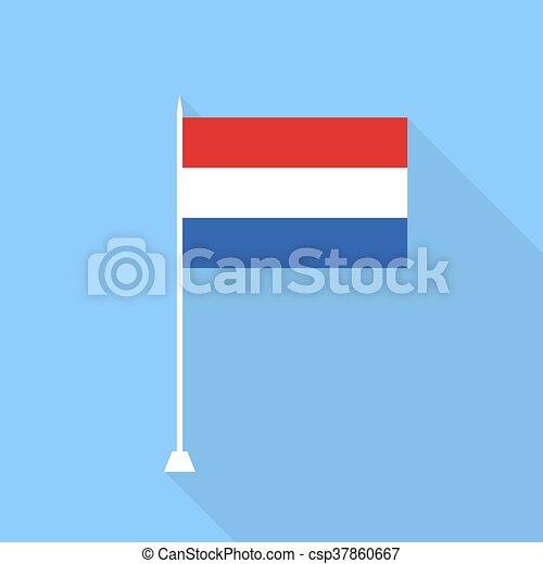 Netherlands flag. Vector illustration . - csp37860667