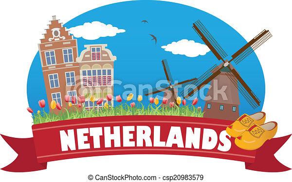 netherlands., tourisme, voyage - csp20983579