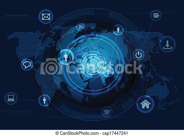 netværk, computer, kommunikation - csp17447241