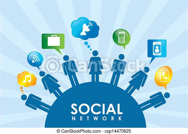 netværk, sociale - csp14470625