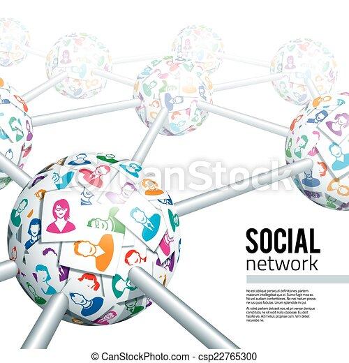 netværk, sociale - csp22765300