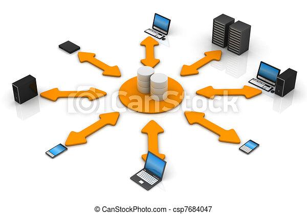 netwerk, databank - csp7684047