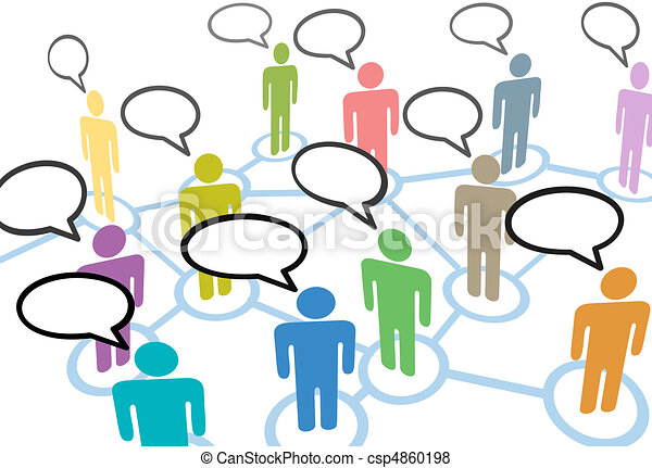 netwerk, mensen, communicatie, aansluitingen, toespraak, sociaal, praatje - csp4860198