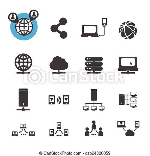 netwerk, pictogram - csp24320059