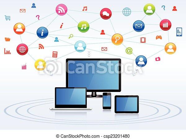netwerk, sociaal - csp23201480
