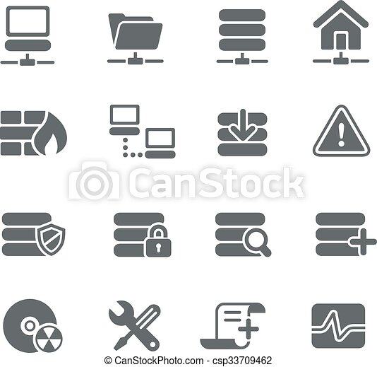Network and Server Icons - csp33709462