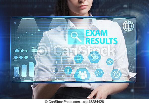 network., begriff, sieht, technologie, arbeitende , inscription:, schirm, ergebnisse, virtuell, junger, unternehmer, zukunft, internet geschäft, prüfung - csp48284426