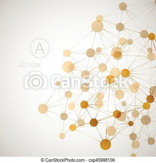 Network, connect or molecule set. Vector illustration for you idea - csp45998106
