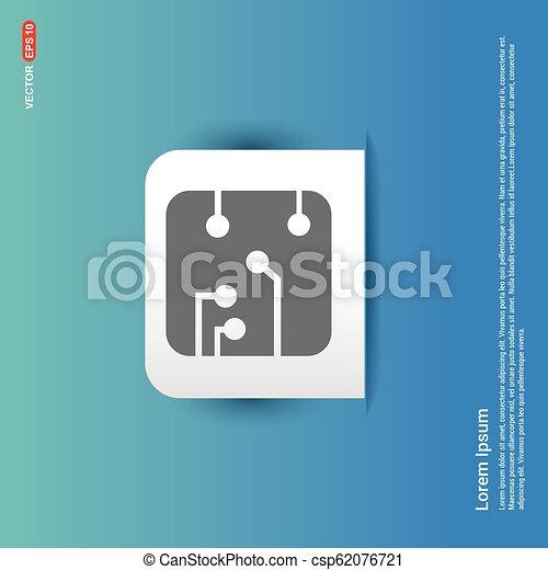 Network icon - Blue Sticker button - csp62076721