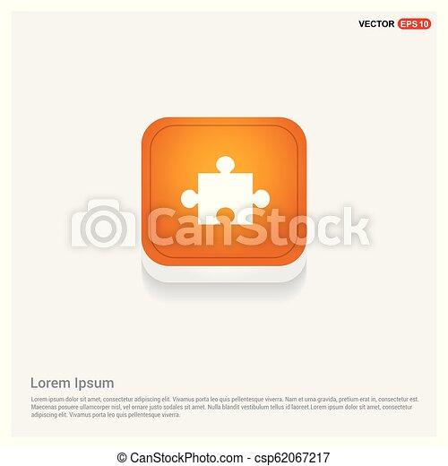 Network icon Orange Abstract Web Button - csp62067217