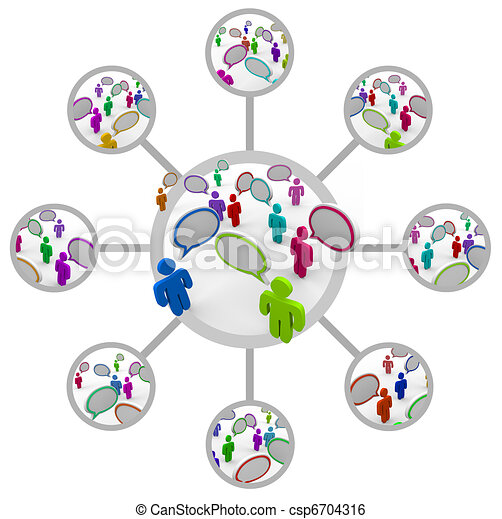 Network of People Communicating in Network of Connections - csp6704316