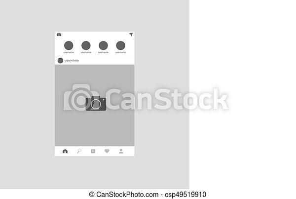 Network photo frame - csp49519910