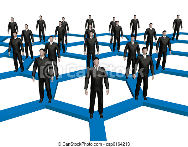 Networked crowd - csp6164213