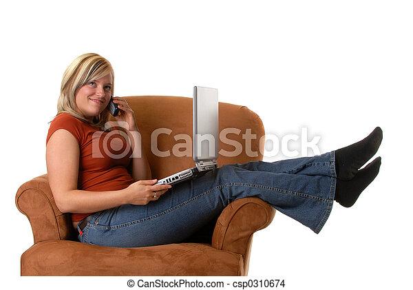 networking, kényelmes - csp0310674