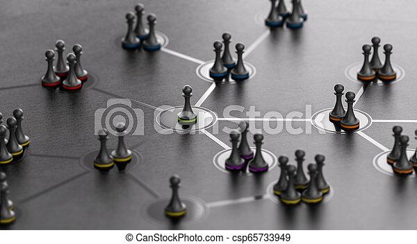 networking, leute, concept., zusammen, verbunden, sozial, führer - csp65733949