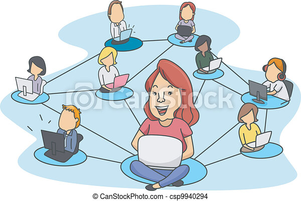networking, sociale - csp9940294