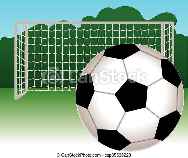 Netz Fussball Ball Fussball Ball Sky Hinten Hintergrund