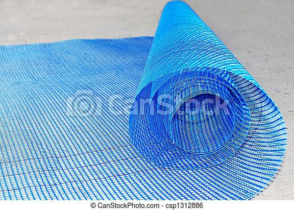 stockbild von netz rolle plastik blue plastik netz rolle gerollt csp1312886 suche. Black Bedroom Furniture Sets. Home Design Ideas