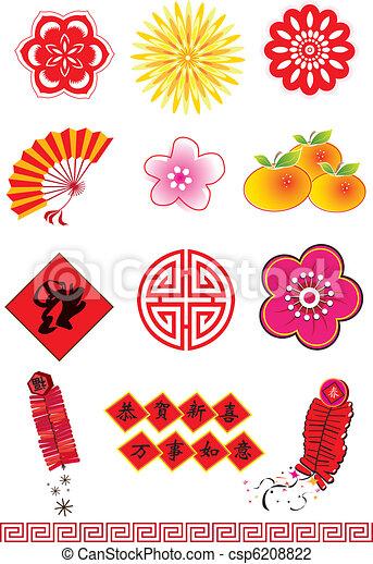 Chinesische Neujahrselemente - csp6208822