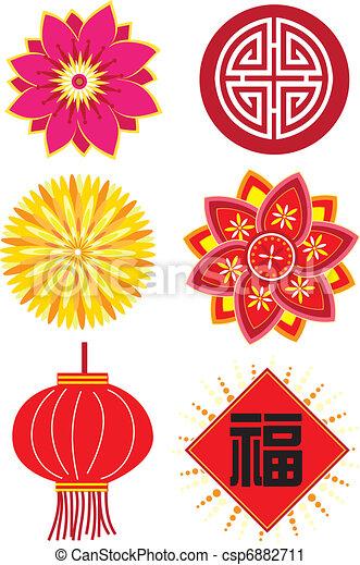 Chinesische Neujahrselemente - csp6882711