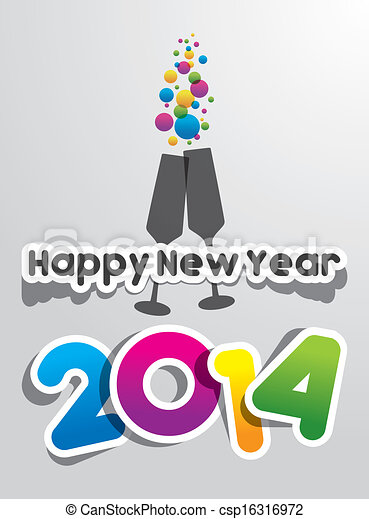 Frohes neues Jahr 2014 - csp16316972