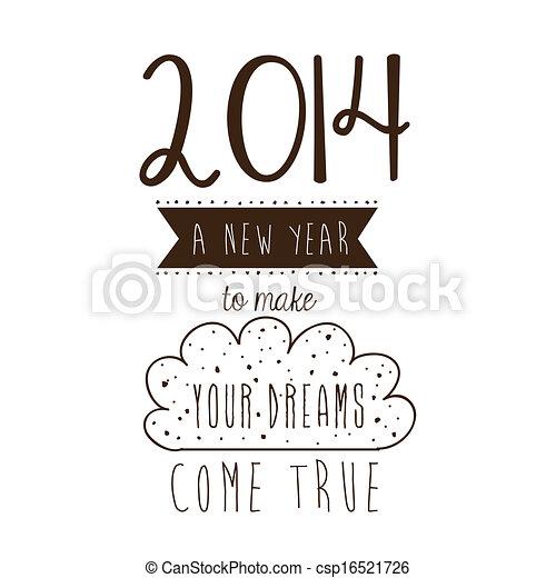 Frohes neues Jahr 2014 - csp16521726