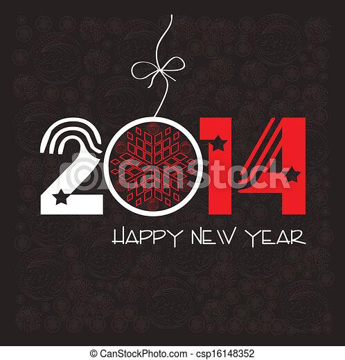 Frohes neues Jahr Grußkarte - csp16148352