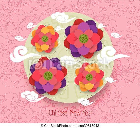 neu , glücklich, orientalische , chinesisches , jahr - csp39815943